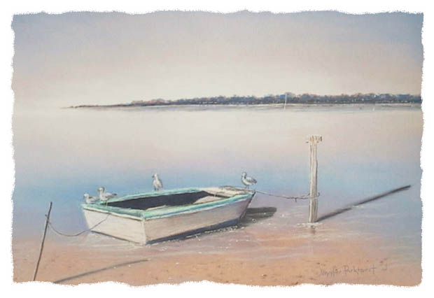 landscapes-painting-boat-gulls-framed